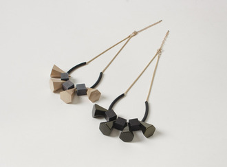Matte polygon necklace