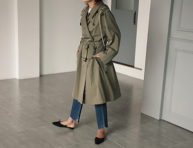 Maison casual trench coat