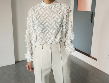 Rectangle see-though blouse