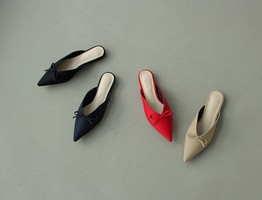 W527 Ribbon pointed mule