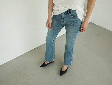 Holiday boot cut denim pants