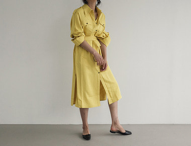 Epaulet point dress