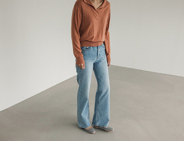Jane wide denim pants