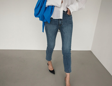 Skinny crop denim pants