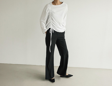 W boot cut pants
