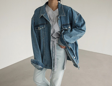 Over vintage denim jacket