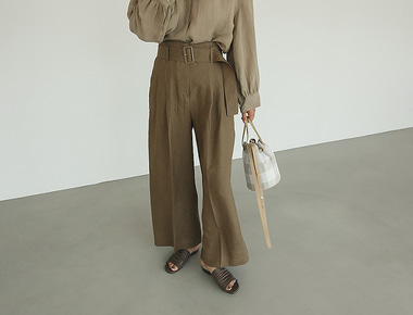 Lacquer belted pants