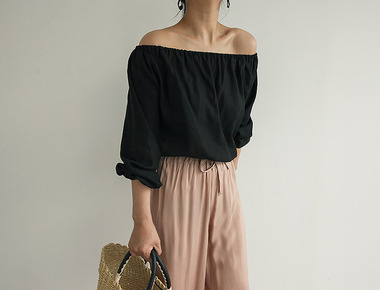 Marine off shoulder blouse