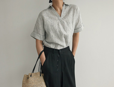 Low stripe blouse