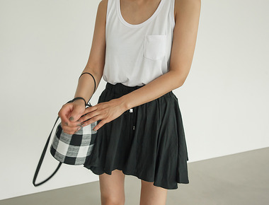 Color pocket sleeveless