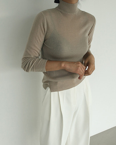 Cel see through knit