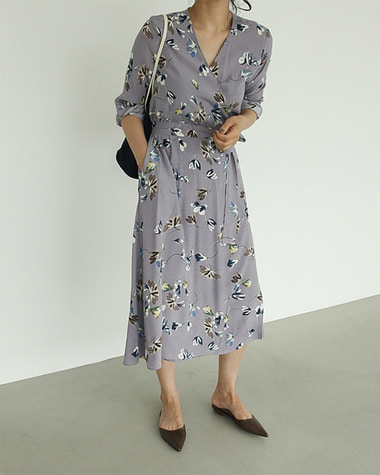 Flow wrap dress