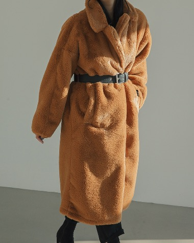 Hair belt long coat
