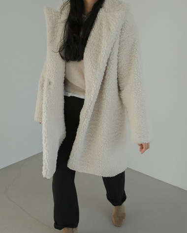 Fleece half coat