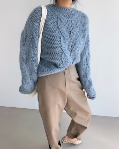 Mohair kid knit