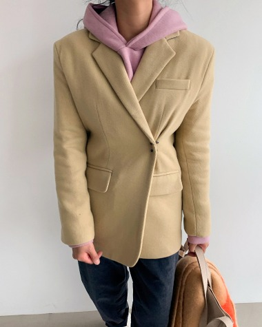 Hook wool jacket