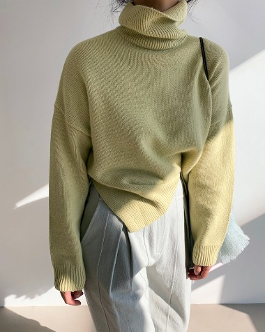 Soft high color knit