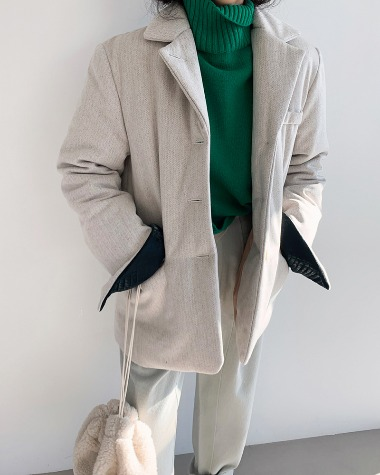 Harringbone padding jacket
