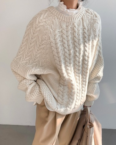 Ray twist knit