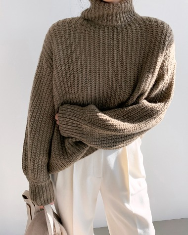 Loose long high knit