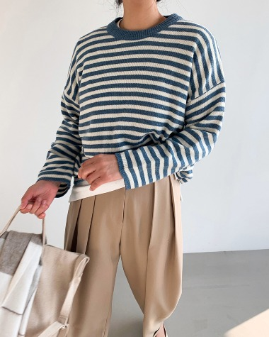 Striped over knit