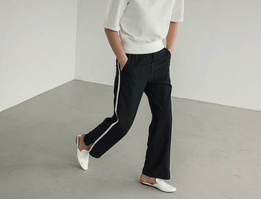 Zipper track pants